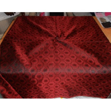 """Silk Brocade fabric indian red Colour 44""""*"""