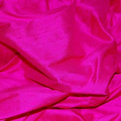 SILK DUPIONI FABRIC FUCHSIA PINK (BY THE YARD)~with slubs MM7[1]