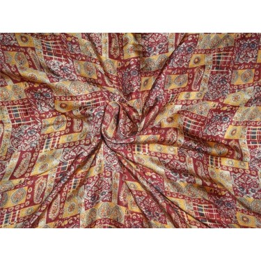 "100% silk twill printed fabric- 44""single length 3.30 yds"