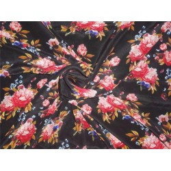 pure silk CDC crepe DIGITAL printed fabric 16 mm weight B2#101A[2]