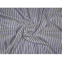 Pure silk taffeta stripes royal blue x ivory color 80 gms b2#106[4]
