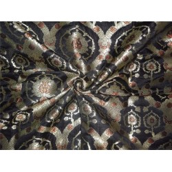 "Kinkhwab brocade black ,brown and mettalic gold 36""BRO536[1]"