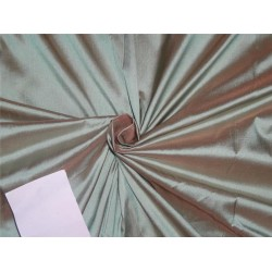 100% SILK Dupion fabric blue x peach =MINTY BLUE DUP246[1]