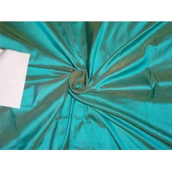 "100% pure silk dupioni fabric turquoise blue x golden yellow 54"" DUP226[2]"