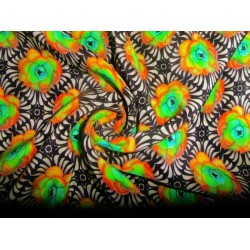 pure silk CDC crepe printed fabric 16 mm weight 44""