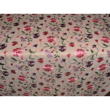 "100%SILK georgette heavily embroidered 44"" B2#89[5]"