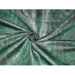Heavy silk brocade emerald green x black BRO529[3]