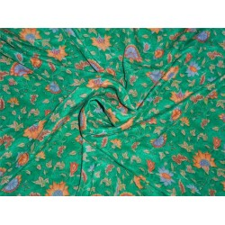 pure silk CDC crepe printed fabric 16 mm weight b2#101[nv]1