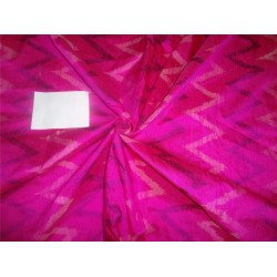 "100% pure silk dupioni ikat fabric in pink 44"" inches by the yard DUPikat37[4]"