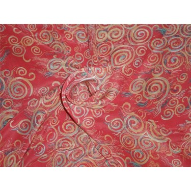 pure silk CDC crepe printed fabric 16 mm weight b2#101[nv]3