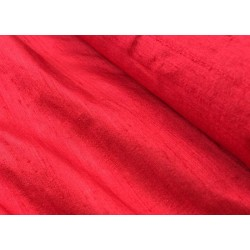 """100% PURE SILK DUPIONI FABRIC BLOOD RED 54"""" WITH SLUBS* MM3A[3]"""