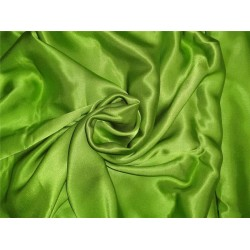 """27 momme silk reversible satin fabric bright green 44"""" wide B2#65A[1]"""