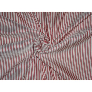 Pure silk HABOTAI stripes red x ivory color 80 gms b2#106[1]