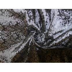 BROCADE fabric-silver steel grey BRO43[2]
