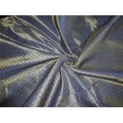 "Brocade Navy blue x metallic Gold Color 44""BRO555[2]"