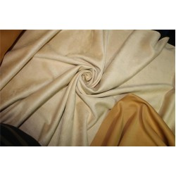 "Scuba Suede Knit fabric 59"" wide- fashion wear Fawn Beige color"