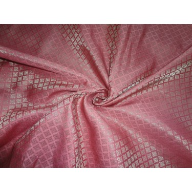 """Brocade Fabric rouge pink x Gold Color 44""""BRO552[2]"""