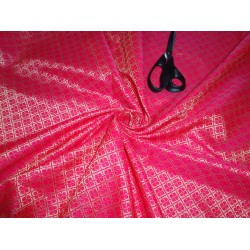 "Brocade Bright Pink x metallic Gold Color 44""BRO554[1]"