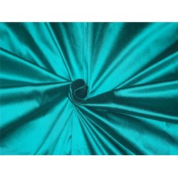 "100% Silk Dupioni fabric 54"" wide- turquoise x black PKT248"