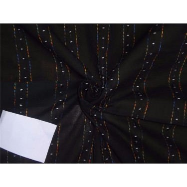 COTTON VOILE FABRIC~EMBROIDERY-black color-44""