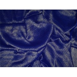 Silk Georgette Fabric royal blue with Subtle Metallic Gold jacquardMIXBKA