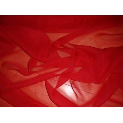 Blood red silk chiffon fabric 44""