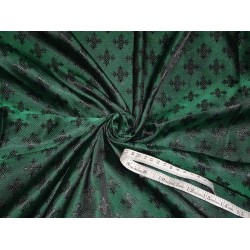 viscose  Silk Brocade Vestment Fabric Green & Black color 44""