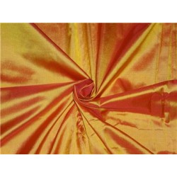 "Mary Ann"" Plain Silk 44"" Fabric Orange x Red Color 50 GRAMS SILKS"