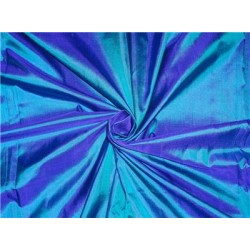 "MARY ANN"" PLAIN SILK 44"" Kingfisher Green x Blue 50 GRAMS SILKS"