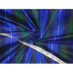 Scottish Tartan Check ~ Silk Dupioni Fabric With Slubs ~Width 54