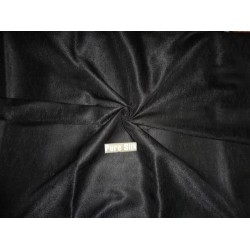 BROCADE FABRIC Jet Black 44""
