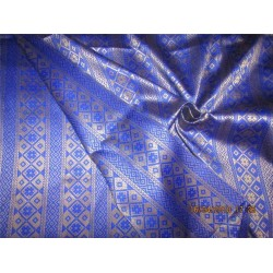 "Reversible Brocade fabric royal blue x gold Color 60"" BRO572[4]"