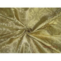 "Silk Brocade fabric gold x metallic gold 44"" BRO577[4]"