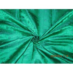 Silk brocade fabric green color 44'' BRO578[1]