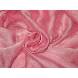 POLYESTER GEORGETTE FABRIC Pink color 44""
