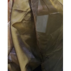 "100%  silk organza fabric 44""two tone gold x black"