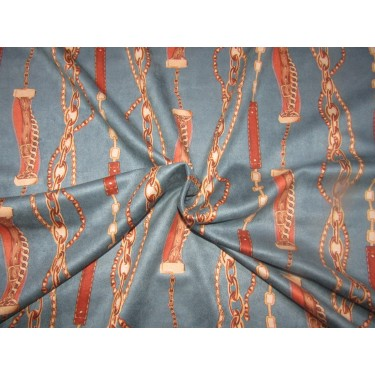 """Customized Digital Prints On suede scuba  Fabric brown and rust 58"""" WIDE by the yard"""