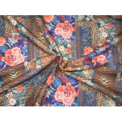 """Customized Digital Prints On Neoprene Fabric multi floral 58"""" WIDE by the yard"""