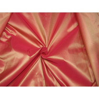 """Pure SILK TAFFETA  FABRIC red x gold  TAF279[13] 54"""" wide sold by the yard"""
