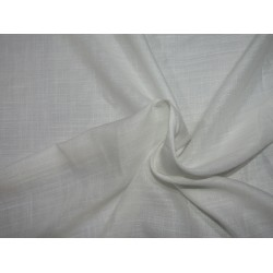 """Tencil THE ENVIRONMENT FRIENDLY FABRIC 44"""" wide- white  with slubs  by the yard"""