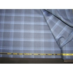 """woolen fabric navy and blue plaids roger 58"""" wide"""