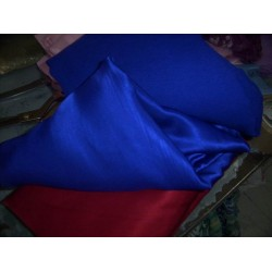 royal dark blue chiffon & matching blue silk satin
