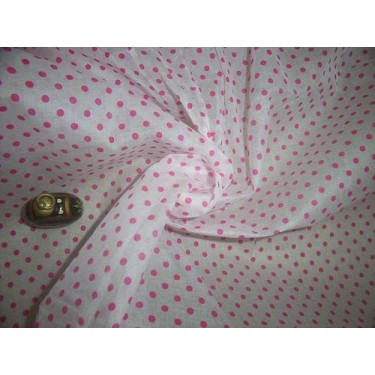 cotton organdy printed~6 new colours{dots} 44 inches by the yard