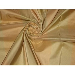 100% Pure SILK TAFFETA FABRIC Cream,Rust & Green 2.72 yards 54""