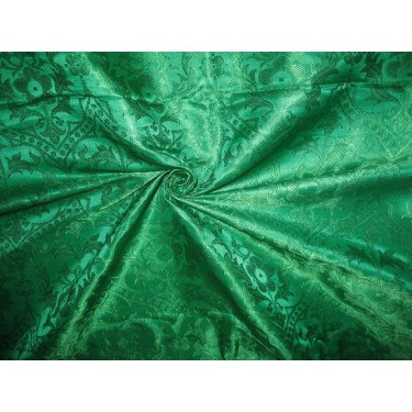 emerald green jacquard brocade-vestment fabric