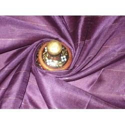 Purple with Gold Stripes Awesome Nina Silk fabric