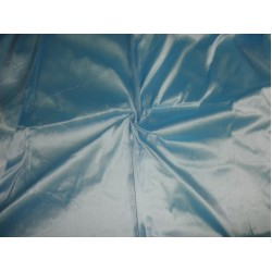 "silky blue x white colour dupioni 44"" best slubless chinese silk"
