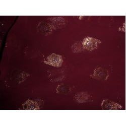 CLOSEOUT-Polyester georgette fabric metalic DARK burgundy