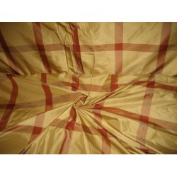 "SILK TAFFETA fabric 8""plaid drapery fabric~Ploma # 2"