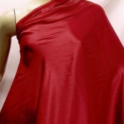 Red colour plain habotai silk 54""
